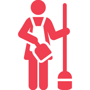 mopping and sweeping home care